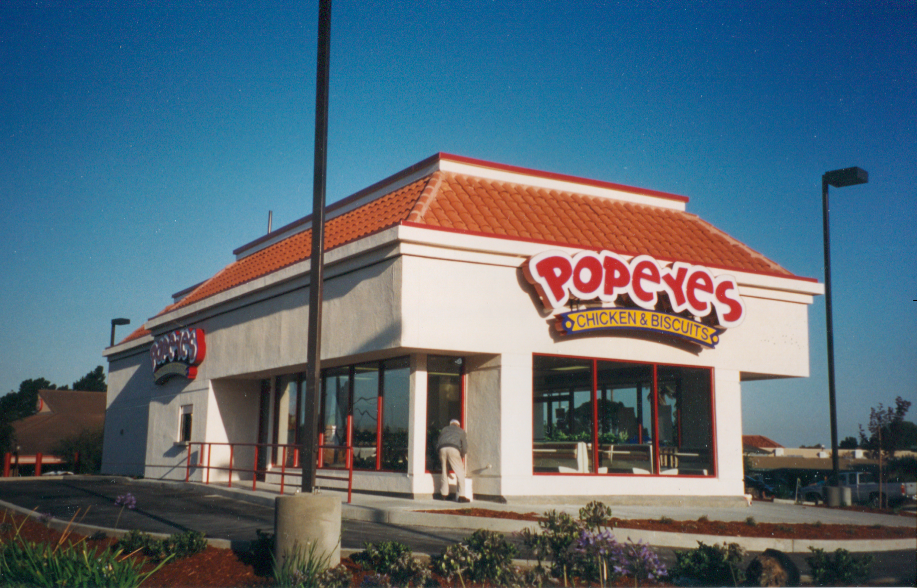 Popeyes Restaurant built by Dakis Contracting